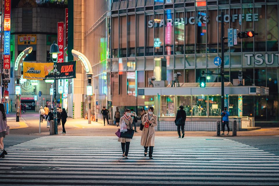 Shibuya, o cruzamento mais movimentado da capital japonesa, vazio (Akira Harigae)